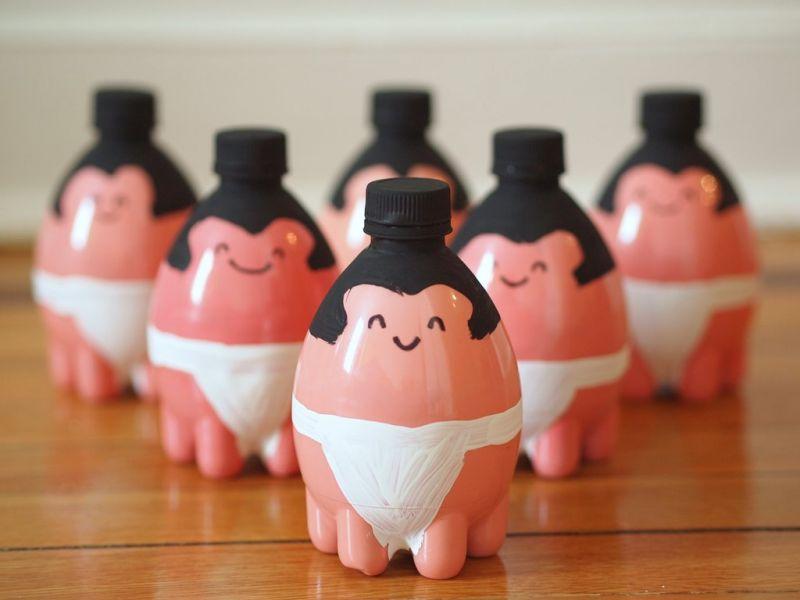 Mainan dari Botol Bekas - Pin Bowling Sumo