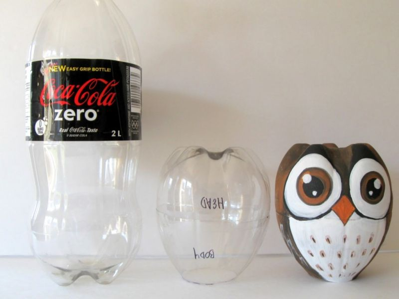 Mainan dari Botol Bekas - Burung Hantu
