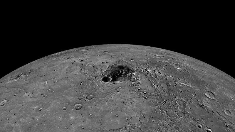 Permukaan Kutub Utara Planet Merkurius