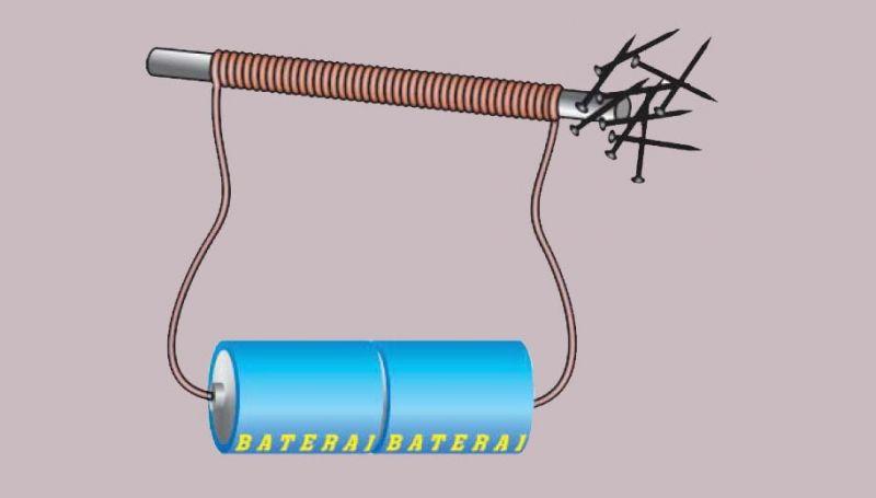 cara membuat magnet dengan elektromagnetik