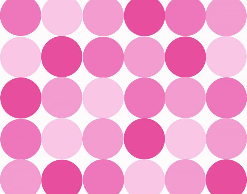 Background Polkadot lucu pink