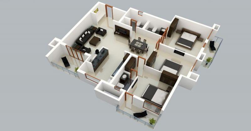 Contoh Desain Rumah 3 Kamar dengan Gaya Zen