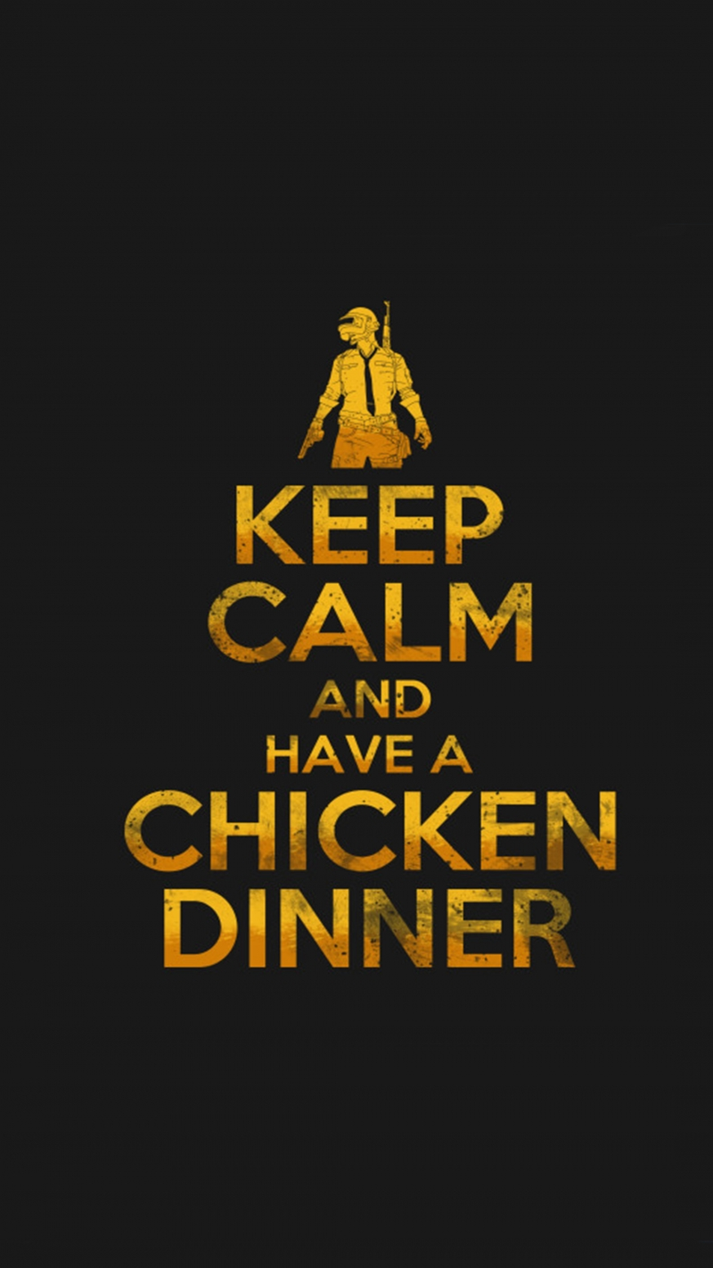 PUBG Keep Calm And Have A Chicken Dinner 4K Ultra HD Mobile Wallpaper mordeo.org