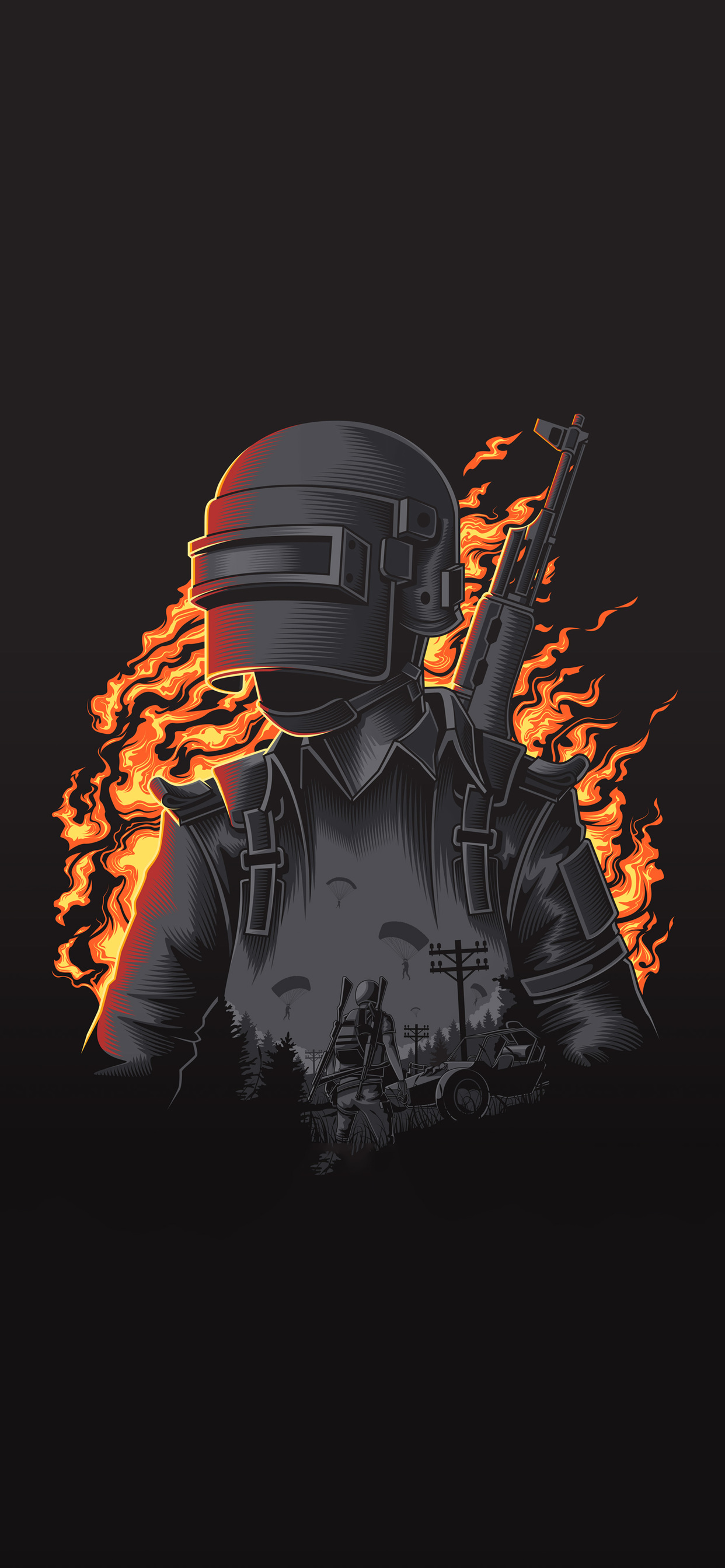 pubg illustration 4k 42 1242x2688 hdqwalls.com  1