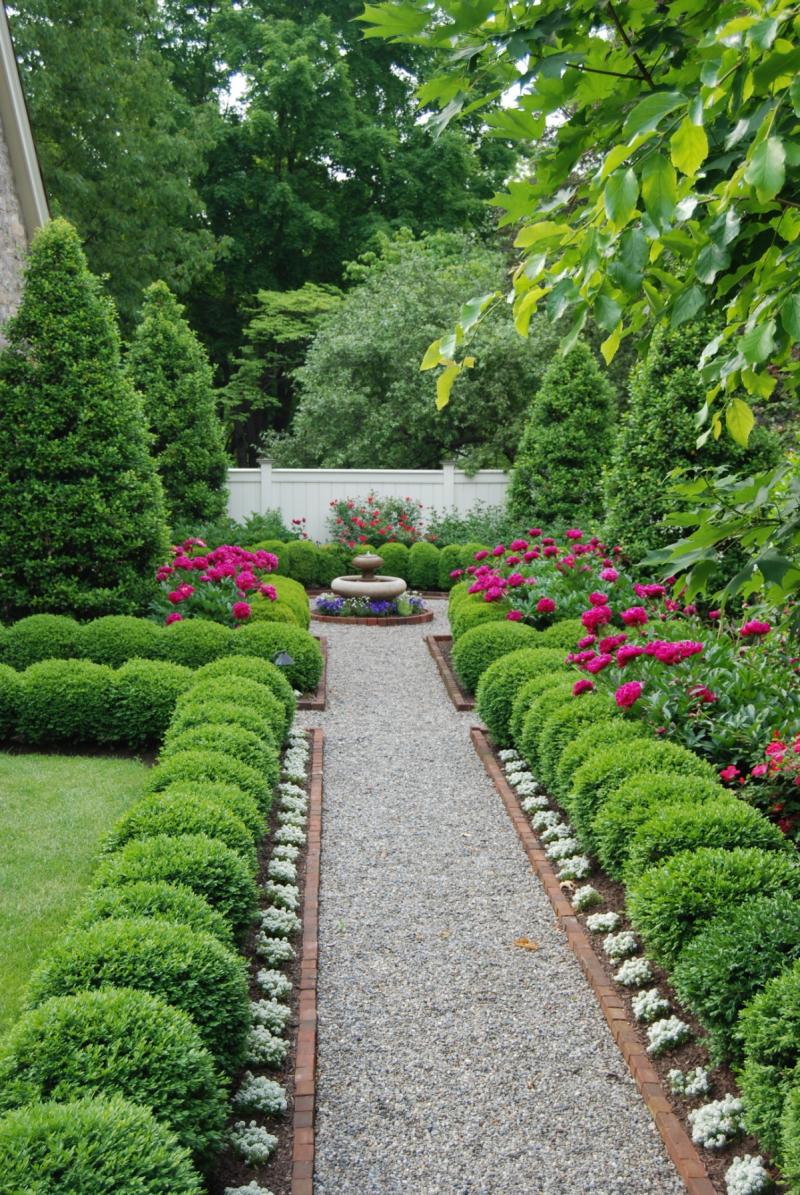 4. Traditional Boxwood Edged Pathway