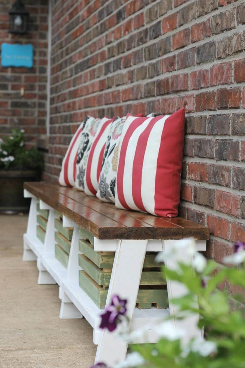 1. Rustic Multi-Use Storage Crate Bench