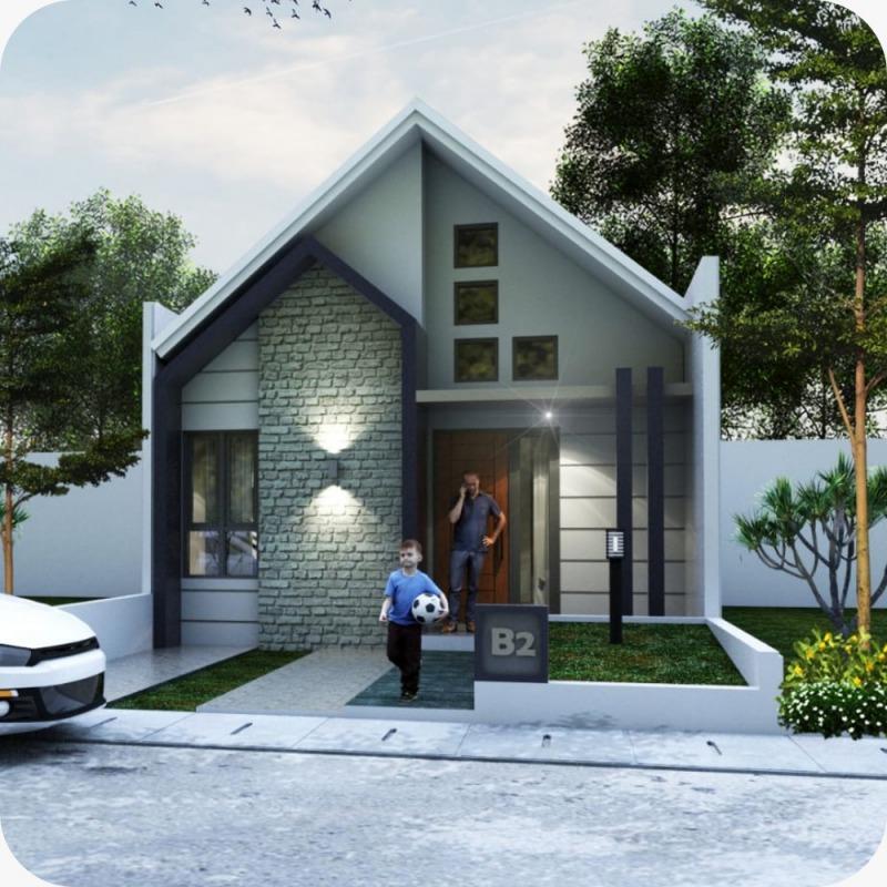Fasad rumah minimalis type 36