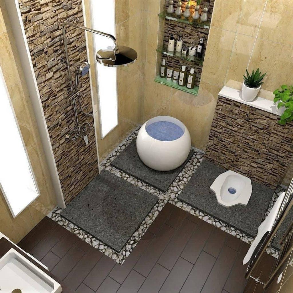 Desain kamar mandi minimalis 2x3