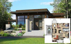 19 desain rumah minimalis 3 kamar gambar fasad, denah, ukuran