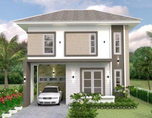 15 desain rumah 2 lantai di lahan sempit & denahnya