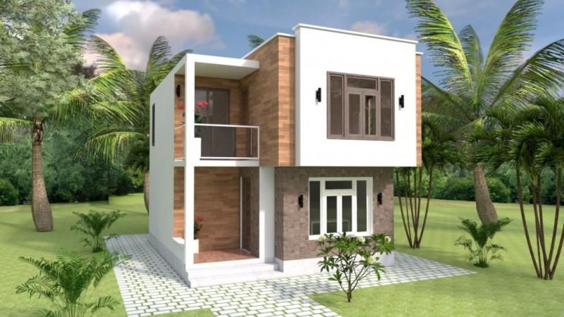 Rumah Kubus yang Menyatu dengan Alam