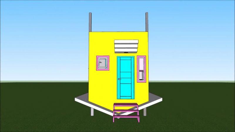 Desain Rumah Kecil Unik 3x6 Meter